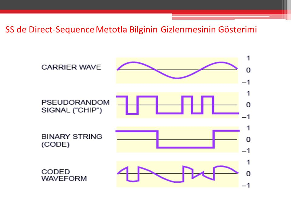 SS de Direct-Sequence Metotla Bilginin Gizlenmesinin Gösterimi