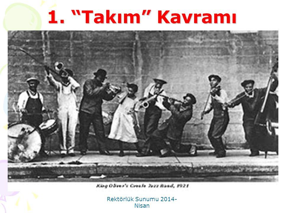 """Rektörlük Sunumu 2014- Nisan 1. """"Takım"""" Kavramı"""
