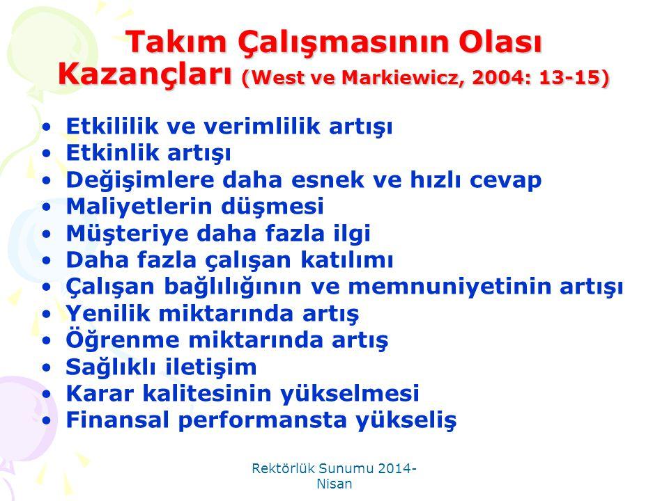 Rektörlük Sunumu 2014- Nisan Başarısız Kararların Tekrarından Nasıl Cayılır.