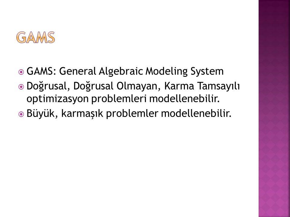  Ürün 1 ve ürün 2 olmak üzere 2 farklı ürün imal eden bir firmanın aşağıdaki doğrusal programlama modelini ele aldığımızı varsayalım.