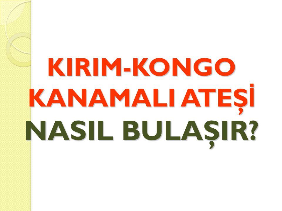 KIRIM-KONGO KANAMALI ATEŞ İ NASIL BULAŞIR?