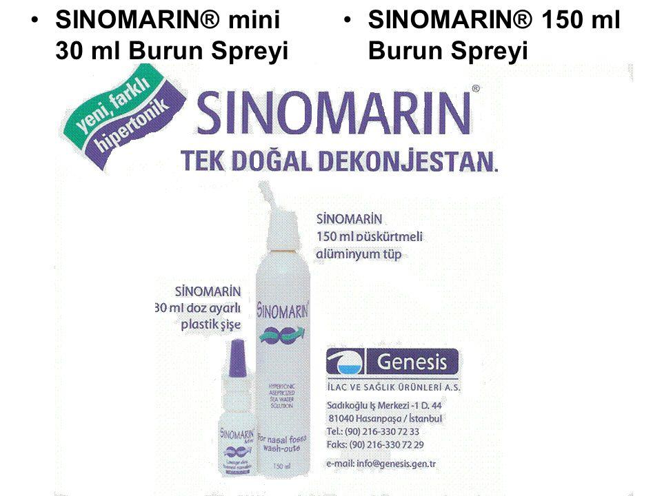 •SINOMARIN® mini 30 ml Burun Spreyi •SINOMARIN® 150 ml Burun Spreyi