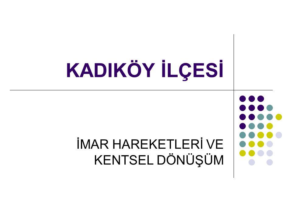 Kadıköy ilçesi, Boğaziçi Köprüsü ve Fatih Sultan Mehmet Köprüsü ile bağlantılı D-100 Karayolu, Anadolu Demiryolunun ve kent ölçeğinde banliyö hattının başlangıcı olan Haydarpaşa İstasyonu ve Marmara Denizine kıyısı olması nedeniyle Avrupa Yakası ile ulaşımının deniz yolu ile sağlandığı Kadıköy ve Bostancı Deniz Otobüsleri ve Şehir Hatları iskeleleri ile İstanbul Metropolü ve Marmara Bölgesi içinde önemli ulaşım bağlantılarının da odak noktasında yer almaktadır.