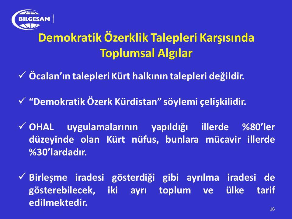 """Demokratik Özerklik Talepleri Karşısında Toplumsal Algılar  Öcalan'ın talepleri Kürt halkının talepleri değildir.  """"Demokratik Özerk Kürdistan"""" söyl"""