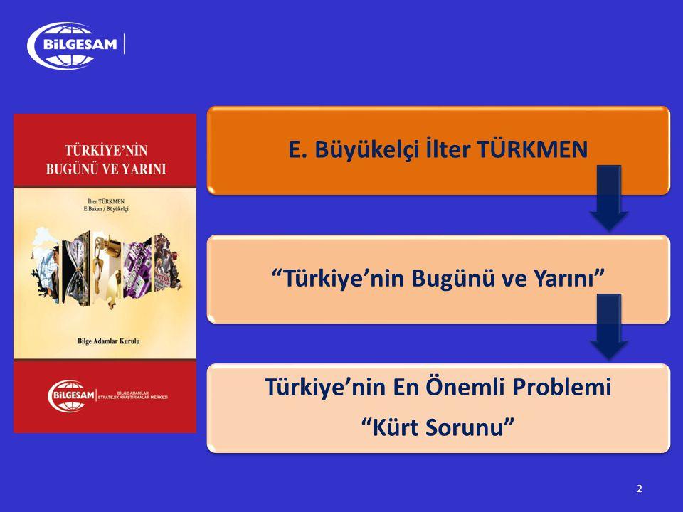"""2 E. Büyükelçi İlter TÜRKMEN""""Türkiye'nin Bugünü ve Yarını"""" Türkiye'nin En Önemli Problemi """"Kürt Sorunu"""""""