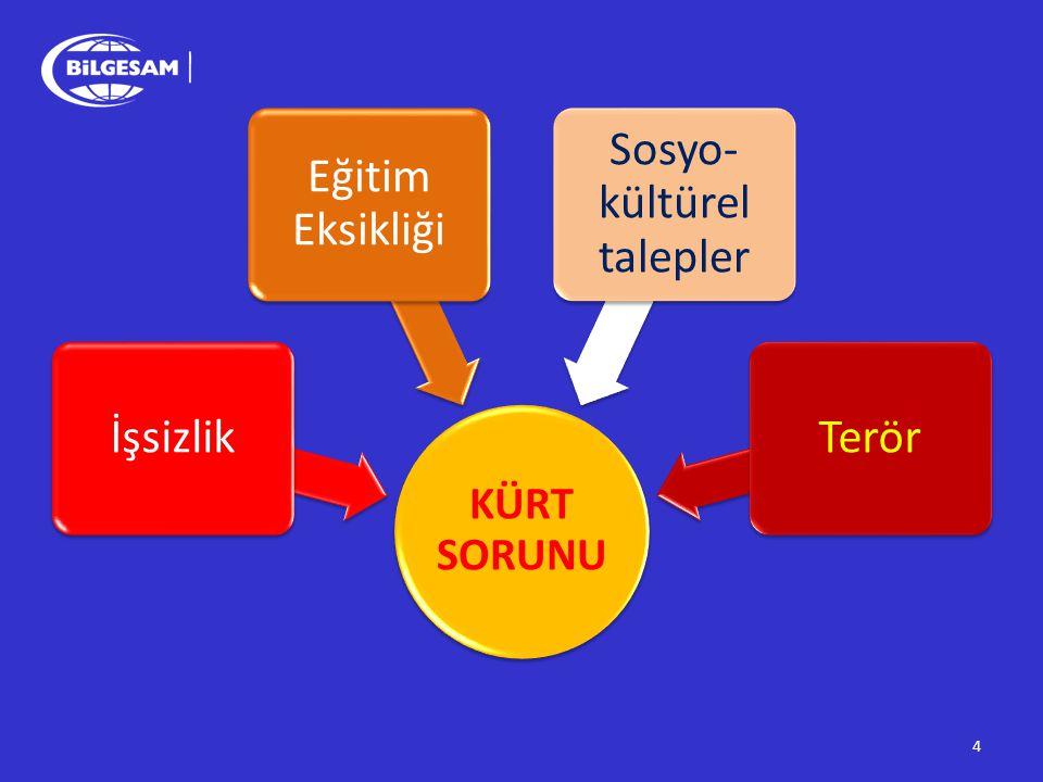 15 Kürt kökenli vatandaşlarBatıda yaşayan vatandaşlar Kürtlerin geçmişte asimile edilmek istendiğini iddia etmektedir.