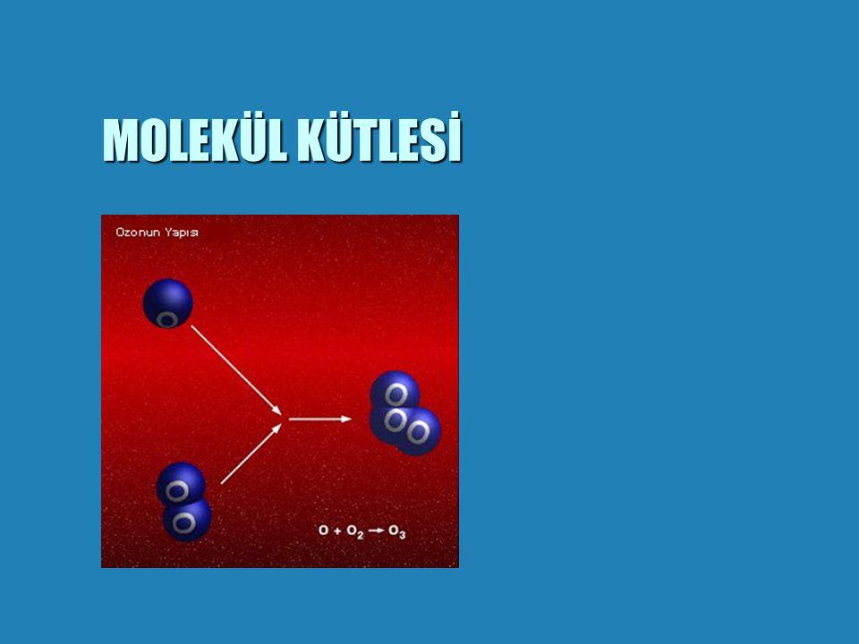 Mol Kavramı ile ilgili alıştırmalar Mol Kavramı ile ilgili alıştırmalar