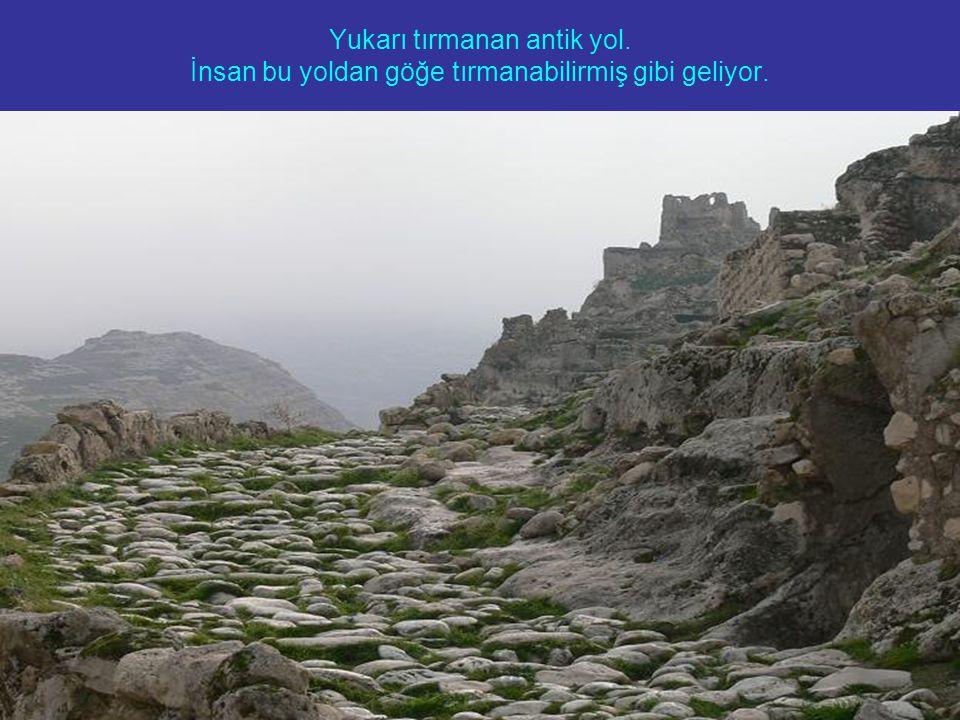 Yukarı tırmanan antik yol. İnsan bu yoldan göğe tırmanabilirmiş gibi geliyor.