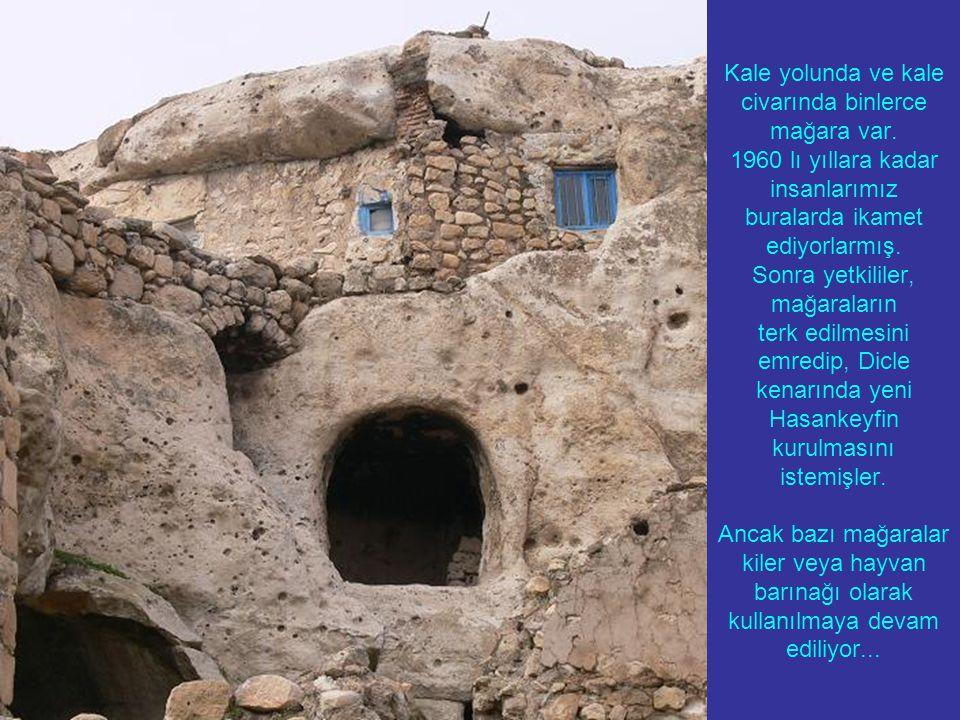 Kale yolunda ve kale civarında binlerce mağara var.