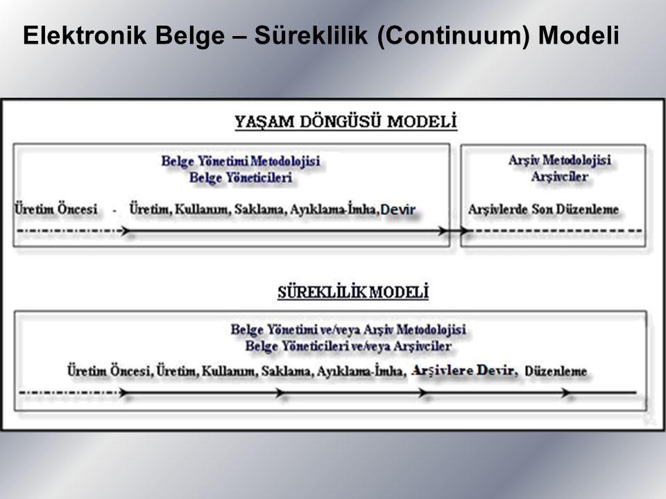 Elektronik Belge – Süreklilik (Continuum) Modeli