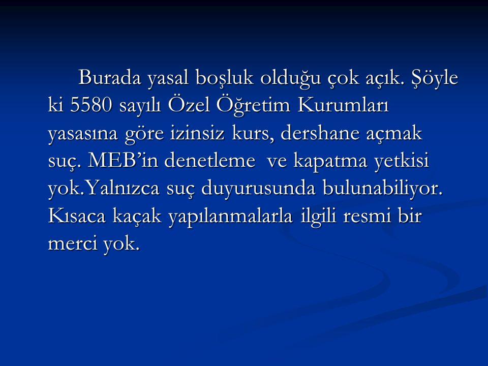 İlgili Resmi kurumlarla İlişkiler, ziyaretler: İzmir İl Milli Eğitim Müdürlüğüne dershanelerin sorunlarıyla ilgili bir rapor YK olarak yaptığımız ziyaretlerde sunulmuş ve anlatılmıştır.