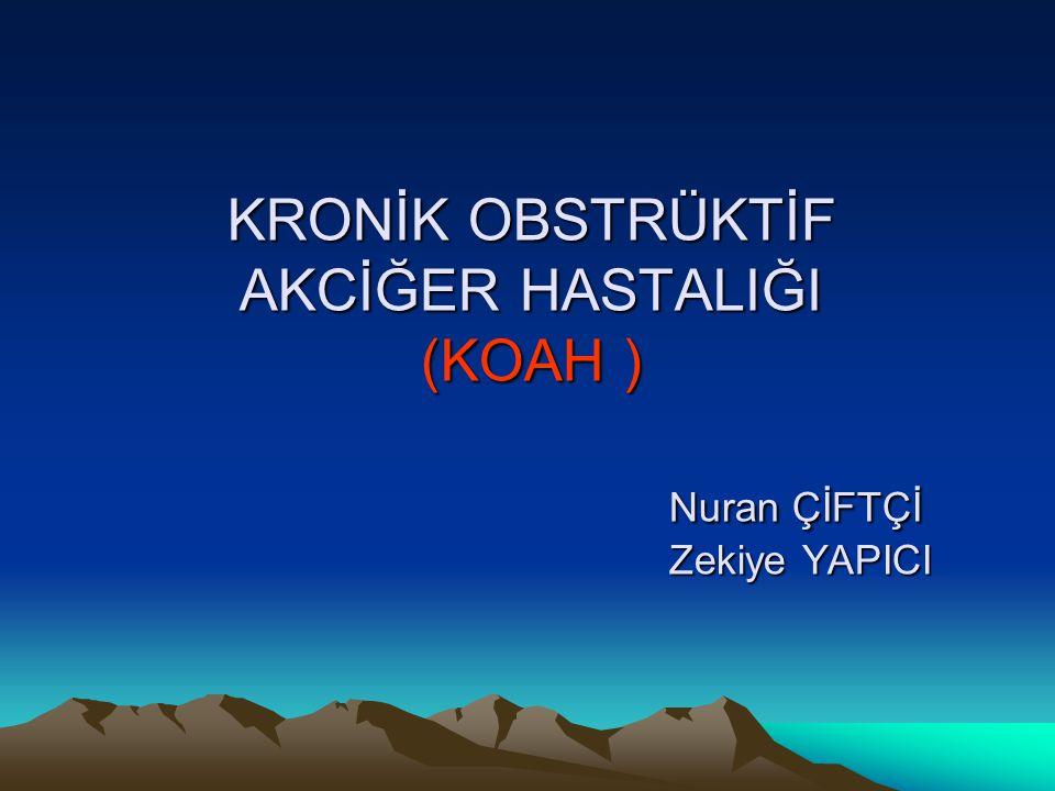 KOAH, Kronik Obstrüktif Akciğer Hastalığı isminin baş harflerinden oluşan kısaltılmış bir hastalık ismidir.