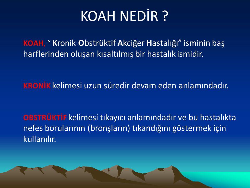 KOAH NASIL TEDAVİ EDİLİR .