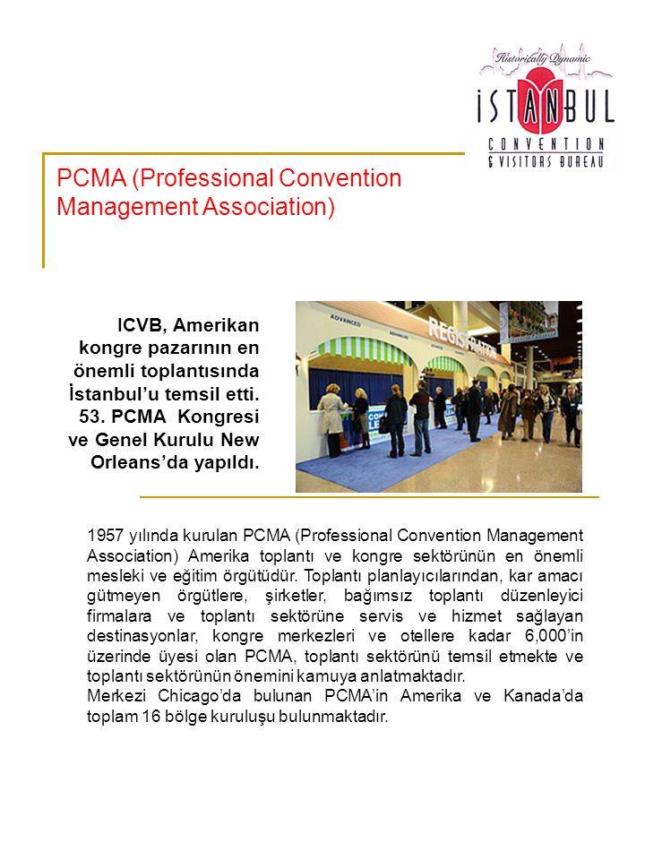 PCMA üyesi Elif Balcı Fisunoğlu 11-14 Ocak 2009 tarihlerinde New Orleans'da gerçekleştirilen Genel Kurula ICVB adına katılarak İstanbul'u temsil etme ve Amerikan toplantı ve kongre pazarı hakkında bilgi edinme imkanı elde etmiştir.