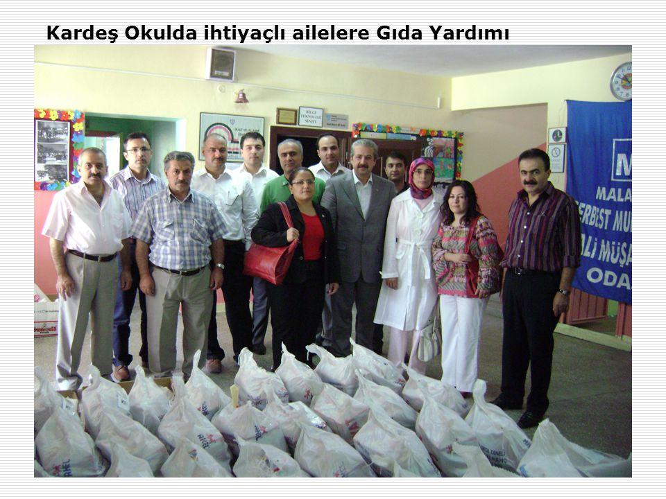 5 Kardeş Okulda ihtiyaçlı ailelere Gıda Yardımı