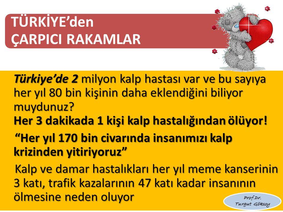 TÜRKİYE'den ÇARPICI RAKAMLAR Türkiye'de 2 milyon kalp hastası var ve bu sayıya her yıl 80 bin kişinin daha eklendiğini biliyor muydunuz.
