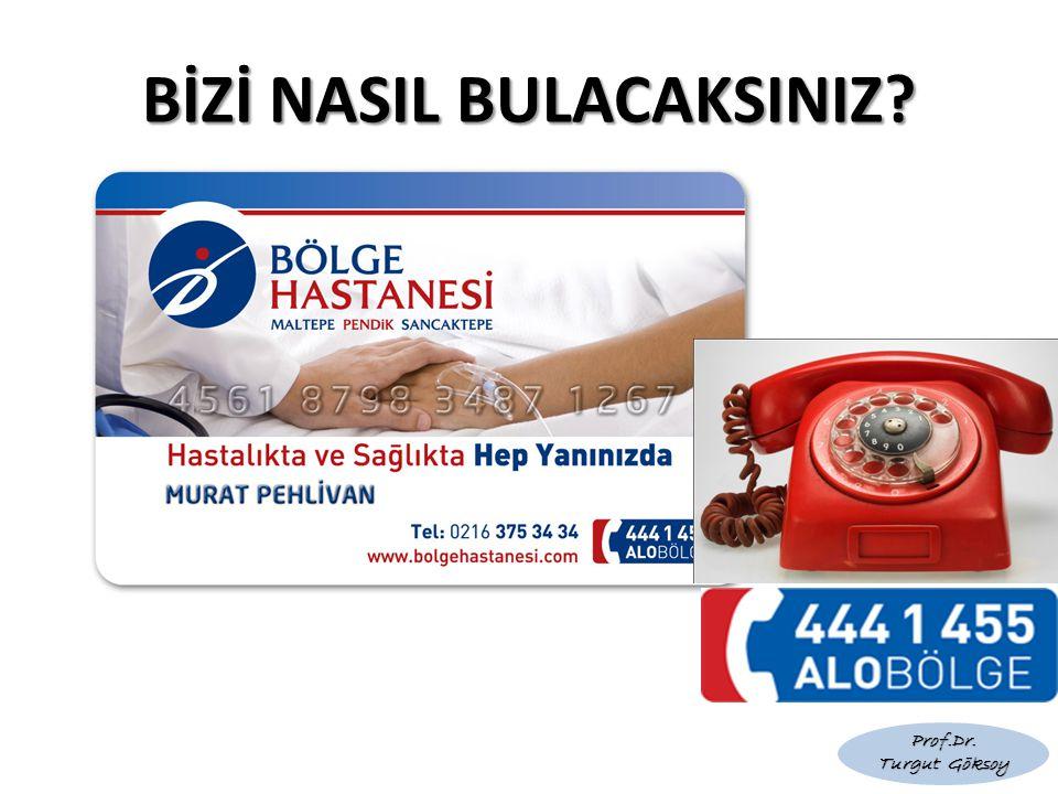 BİZİ NASIL BULACAKSINIZ? Prof.Dr. Turgut Göksoy