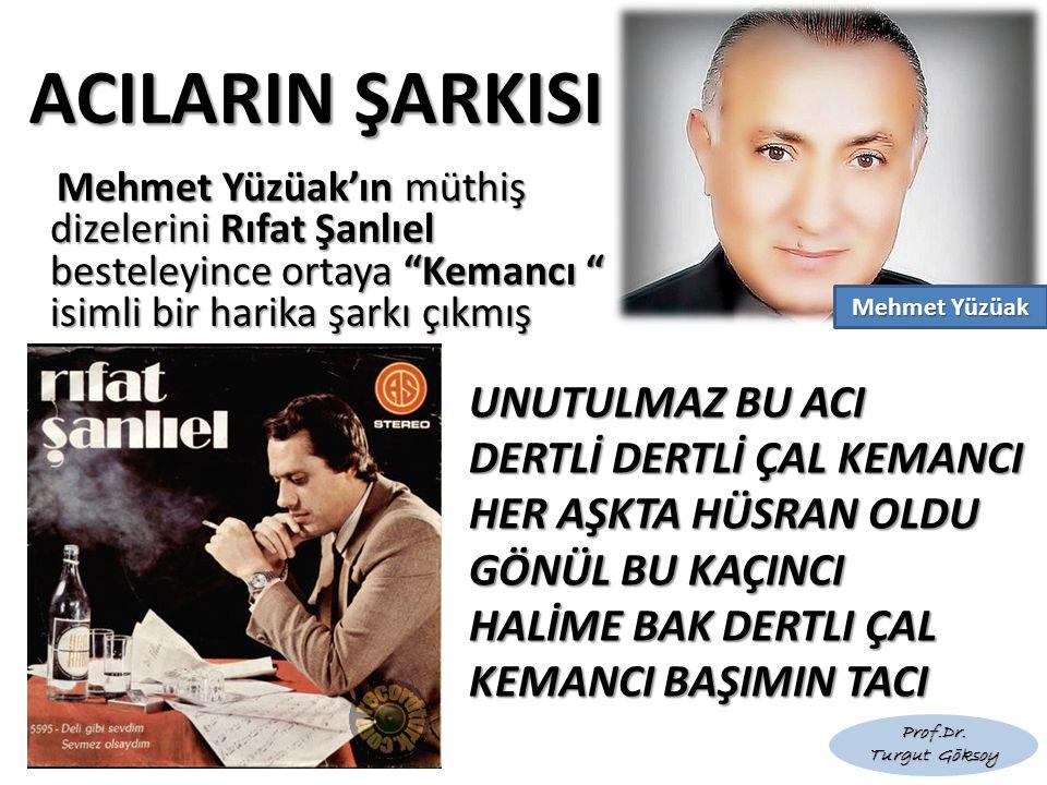 """ACILARIN ŞARKISI Mehmet Yüzüak'ın müthiş dizelerini Rıfat Şanlıel besteleyince ortaya """"Kemancı """" isimli bir harika şarkı çıkmış Mehmet Yüzüak'ın müthi"""