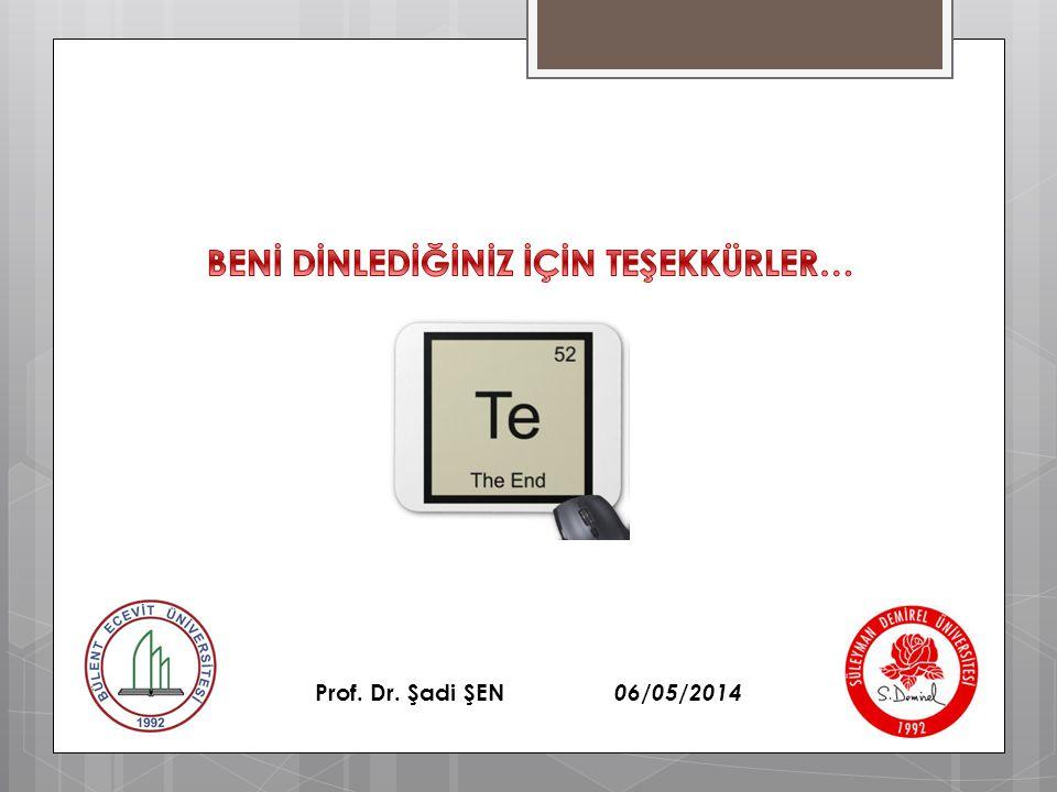 Prof. Dr. Şadi ŞEN 06/05/2014