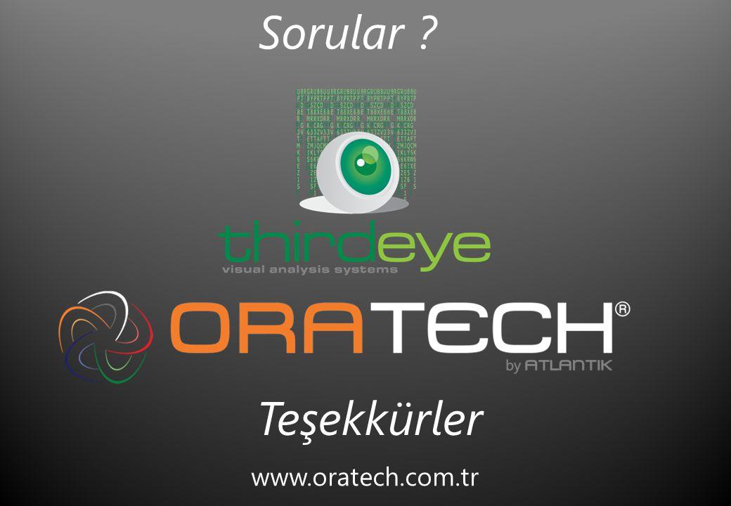 www.oratech.com.tr Sorular ? Teşekkürler