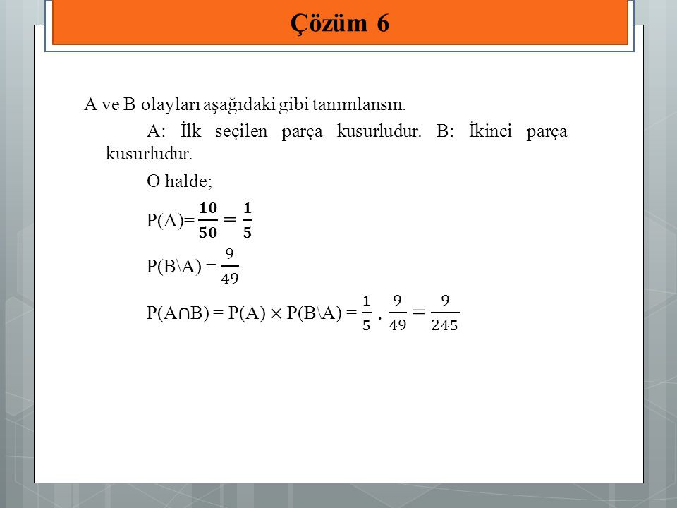 Çözüm 6