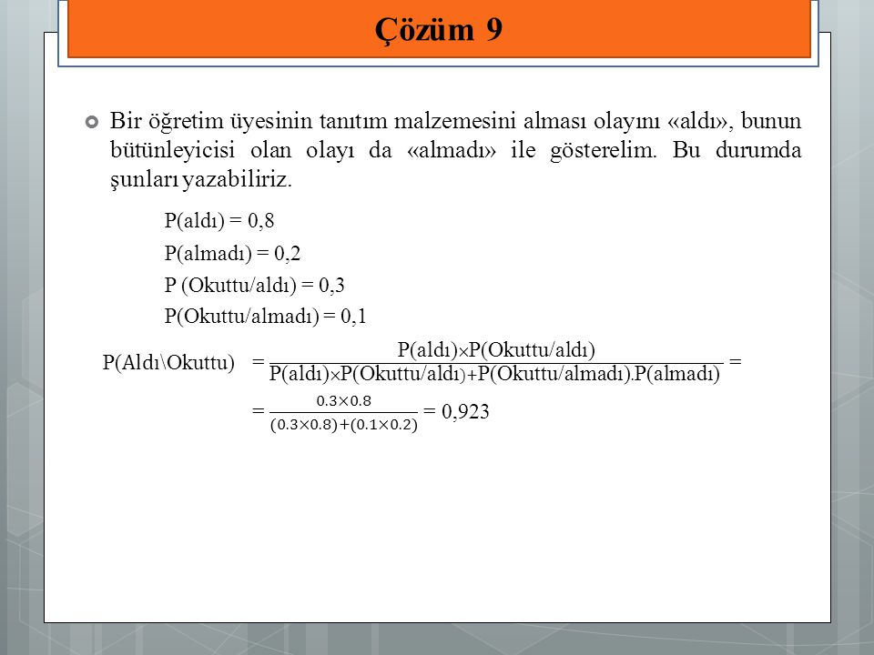 Çözüm 9