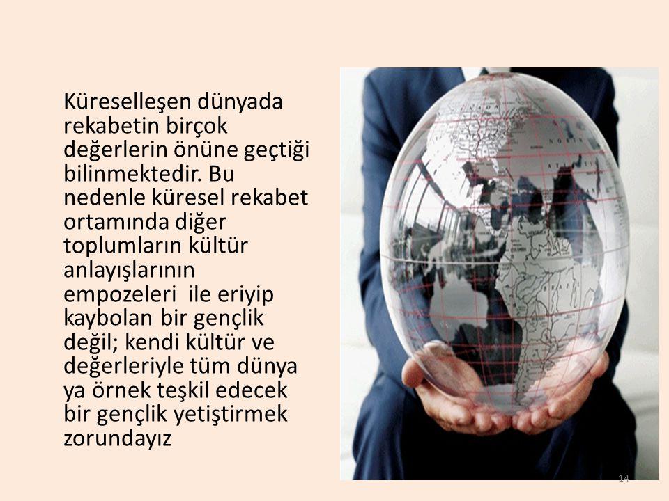 Küreselleşen dünyada rekabetin birçok değerlerin önüne geçtiği bilinmektedir. Bu nedenle küresel rekabet ortamında diğer toplumların kültür anlayışlar