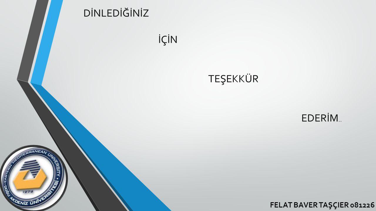 FELAT BAVER TAŞÇIER 081226 DİNLEDİĞİNİZ İÇİN TEŞEKKÜR EDERİM..
