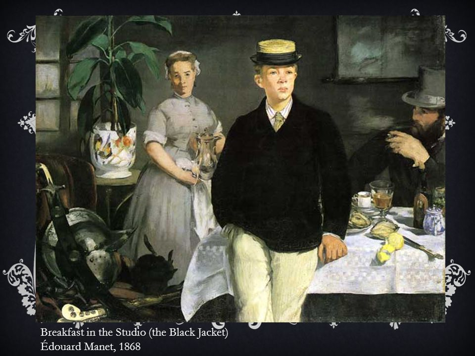 Breakfast in the Studio (the Black Jacket) Édouard Manet, 1868