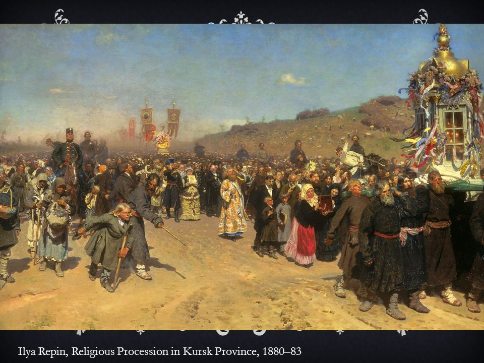 Ilya Repin, Religious Procession in Kursk Province, 1880–83