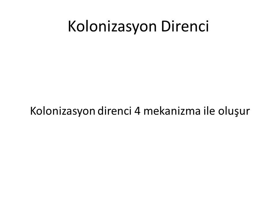 Kolonizasyon Direnci Kolonizasyon direnci 4 mekanizma ile oluşur