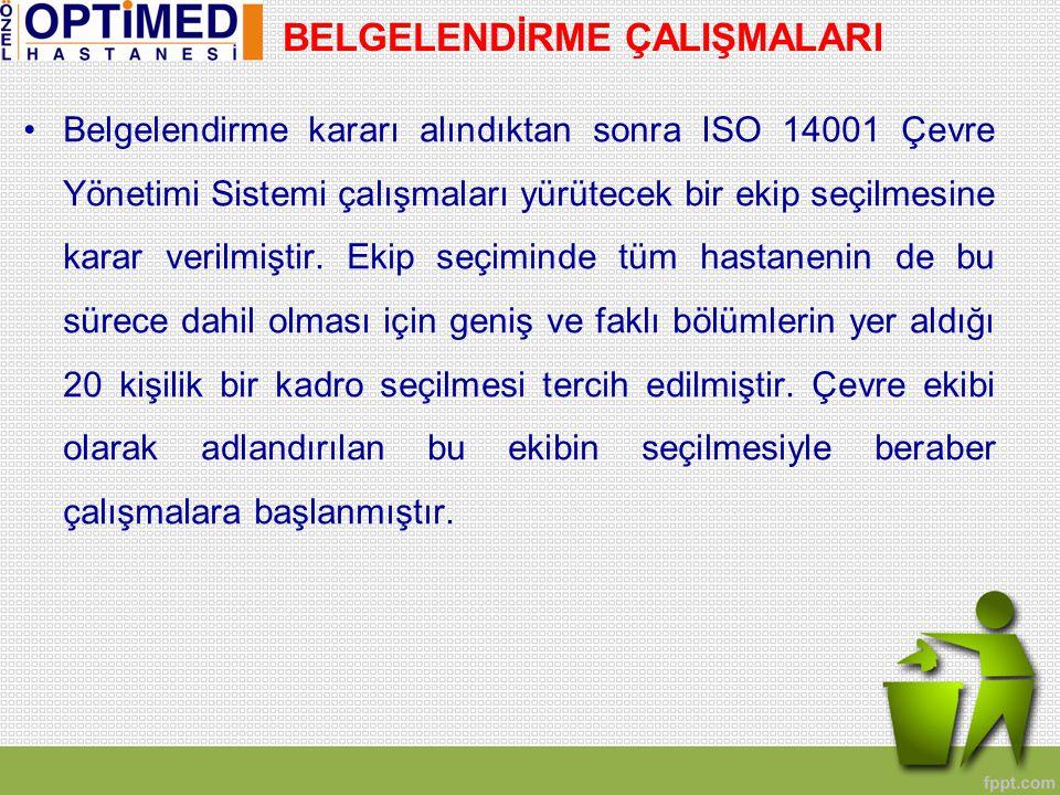 •İlk olarak Ağustos ayında bu ekibe MEYER firması tarafından ISO 14001 Çevre Yönetim Sistemi Temel ve İç Tetkikçi eğitimi verilmiştir.