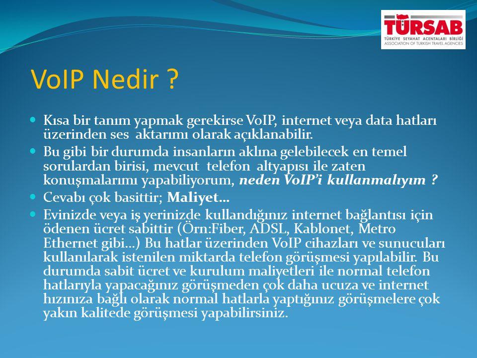 VoIP Nedir ?  Kısa bir tanım yapmak gerekirse VoIP, internet veya data hatları üzerinden ses aktarımı olarak açıklanabilir.  Bu gibi bir durumda ins