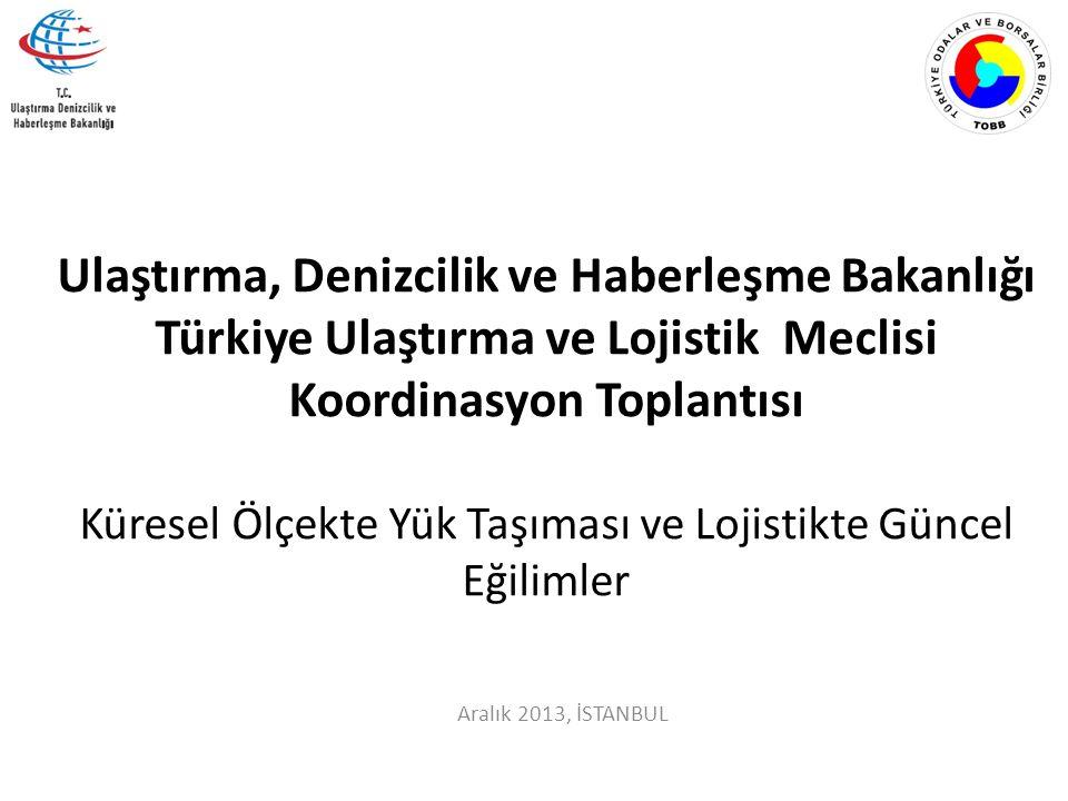 Aralık 2013, İSTANBUL Ulaştırma, Denizcilik ve Haberleşme Bakanlığı Türkiye Ulaştırma ve Lojistik Meclisi Koordinasyon Toplantısı Küresel Ölçekte Yük