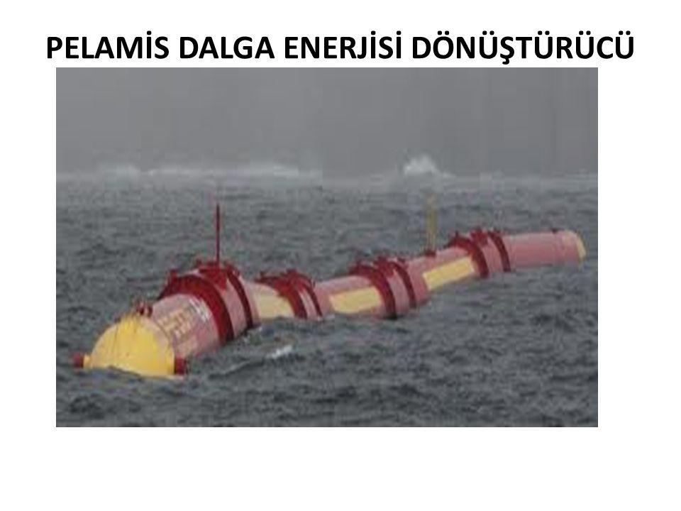 OYSTER DALGA ENERJİSİ DÖNÜŞTÜRÜCÜ • Çalışma sistemindeki temel unsur Pelamis gibi hidrolik sistemdir.