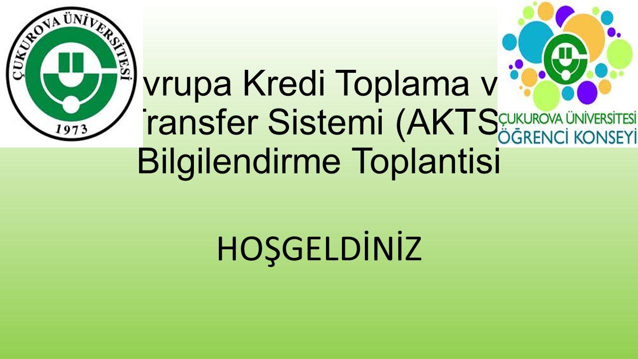 Avrupa Kredi Transfer Sistemi (AKTS) nedir.AKTS, Erasmus programı çerçevesinde 1989'da tanıtıldı.