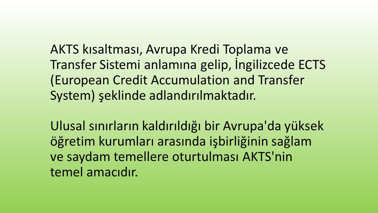 Bir dönemde öngörülecek derslerin AKTS kredisi toplamı ne kadar olmalıdır.