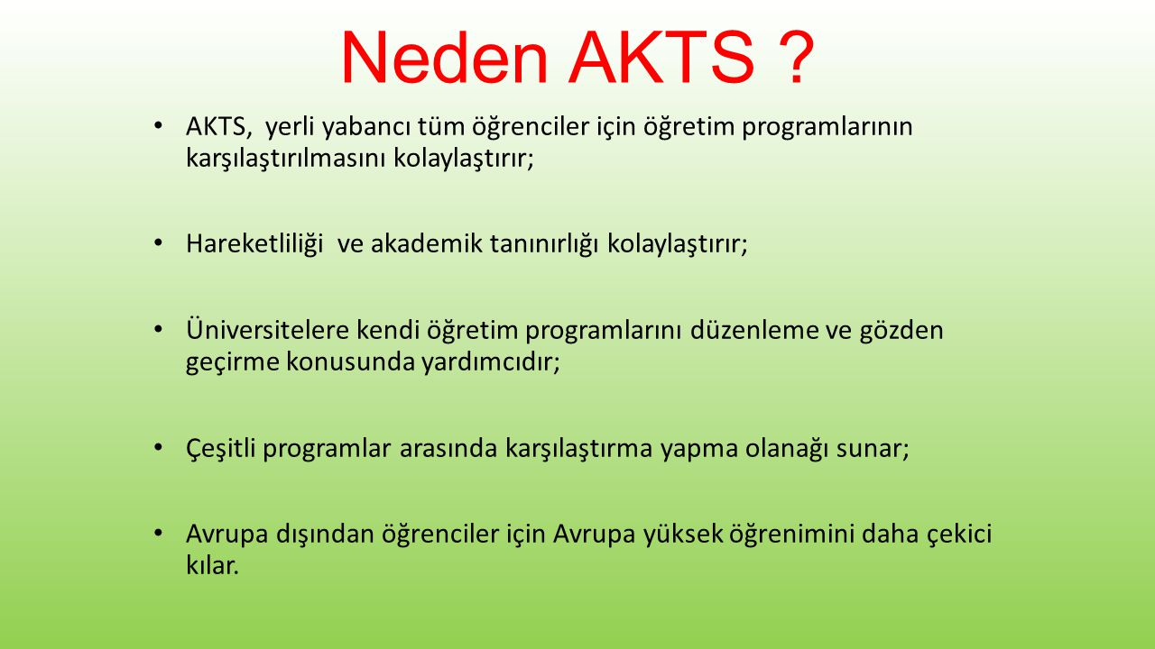 Neden AKTS .