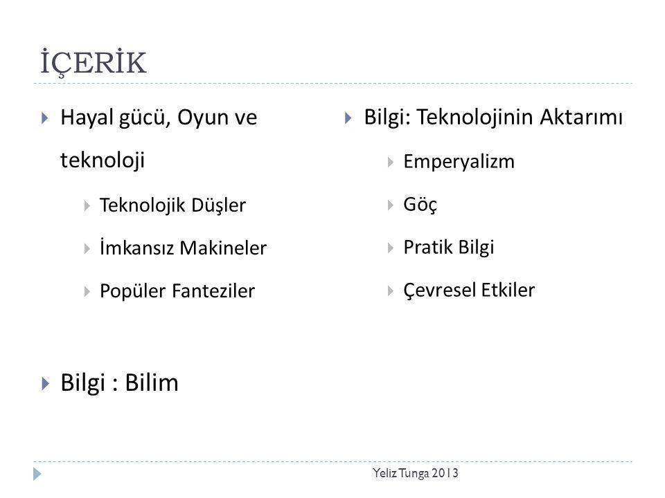 Yeliz Tunga 2013 Hayal Gücü, Oyun ve Teknoloji