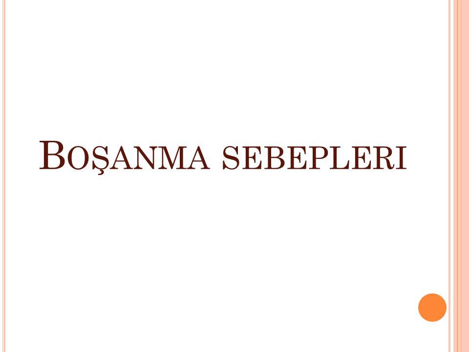 B OŞANMA SEBEPLERI