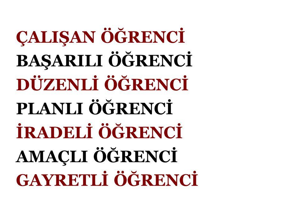 KAYGILI ÖĞRENCİ KAZANDIĞI VE KAZANAMADIĞI DEĞİŞİK ANLARI CANLANDIRIR.