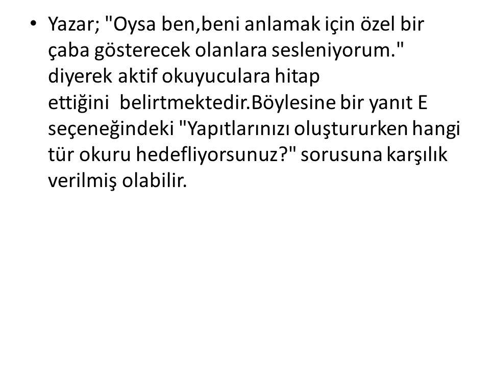 • Yazar;