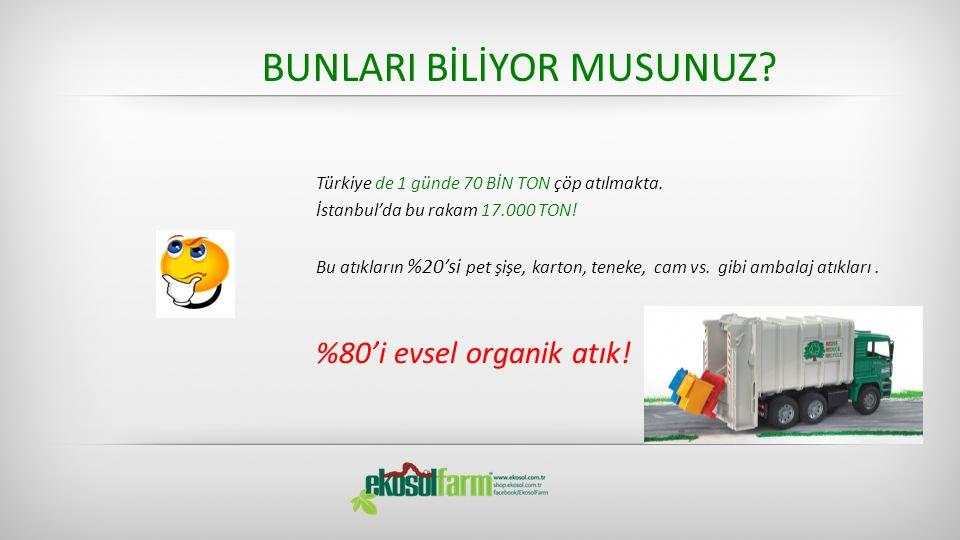 BUNLARI BİLİYOR MUSUNUZ? Türkiye de 1 günde 70 BİN TON çöp atılmakta. İstanbul'da bu rakam 17.000 TON! Bu atıkların %20'si pet şişe, karton, teneke, c