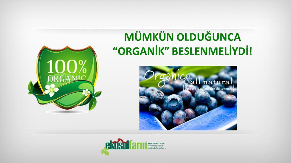 """MÜMKÜN OLDUĞUNCA """"ORGANİK"""" BESLENMELİYDİ!"""