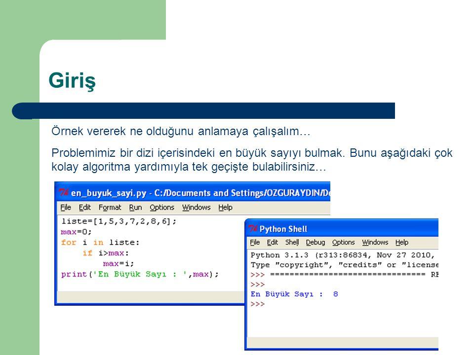 Örnek 2 try…except ZeroDivisionError yöntem ile bu örneği programlayacak olursak ; Sıfıra bölme hatası… Yanlış değer giriş hatası… Doğru giriş…