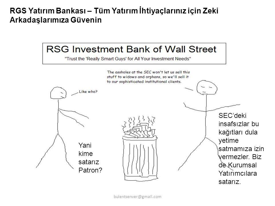 RGS Yatırım Bankası – Tüm Yatırım İhtiyaçlarınız için Zeki Arkadaşlarımıza Güvenin SEC'deki insafsızlar bu kağıtları dula yetime satmamıza izin vermez