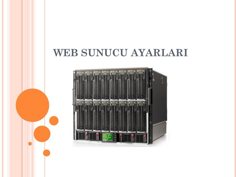 WEB SUNUCU AYARLARI