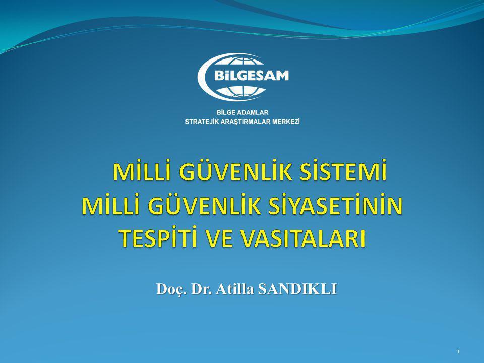Milli güvenlik Planlama Süreci  Türkiye'nin Milli Askeri Stratejisi (TÜMAS)  Genel/Müşterek Harekat Konsepti (Genkur.)  Kuvvet Harekat ve Diğer Konseptler(Genkur.