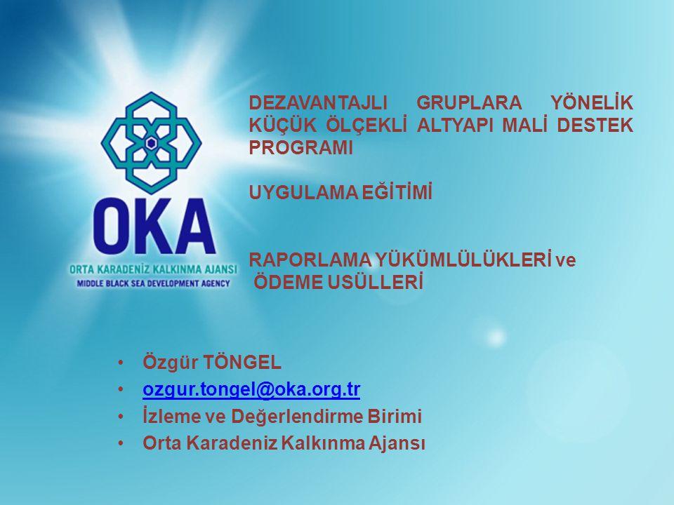 1 •Özgür TÖNGEL •ozgur.tongel@oka.org.trozgur.tongel@oka.org.tr •İzleme ve Değerlendirme Birimi •Orta Karadeniz Kalkınma Ajansı DEZAVANTAJLI GRUPLARA