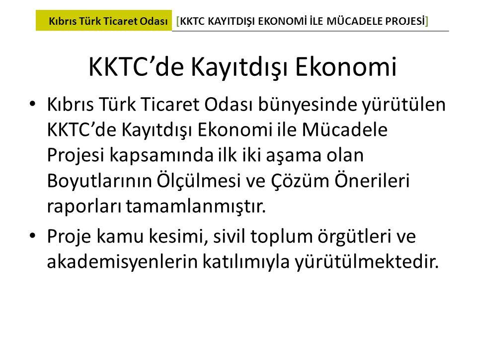 KKTC'de Kayıtdışı Ekonomi • Kıbrıs Türk Ticaret Odası bünyesinde yürütülen KKTC'de Kayıtdışı Ekonomi ile Mücadele Projesi kapsamında ilk iki aşama ola
